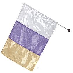 Tri-Color Metallic Flag by Eurotard